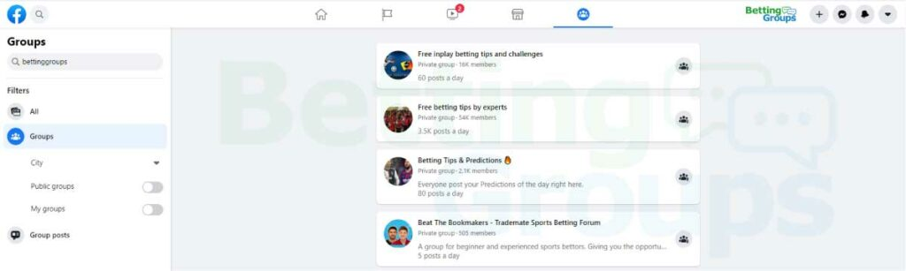 Facebook-groups-on-betting-search-engine