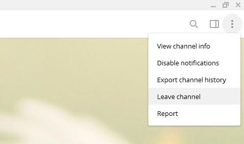leave channel telegram screen shot